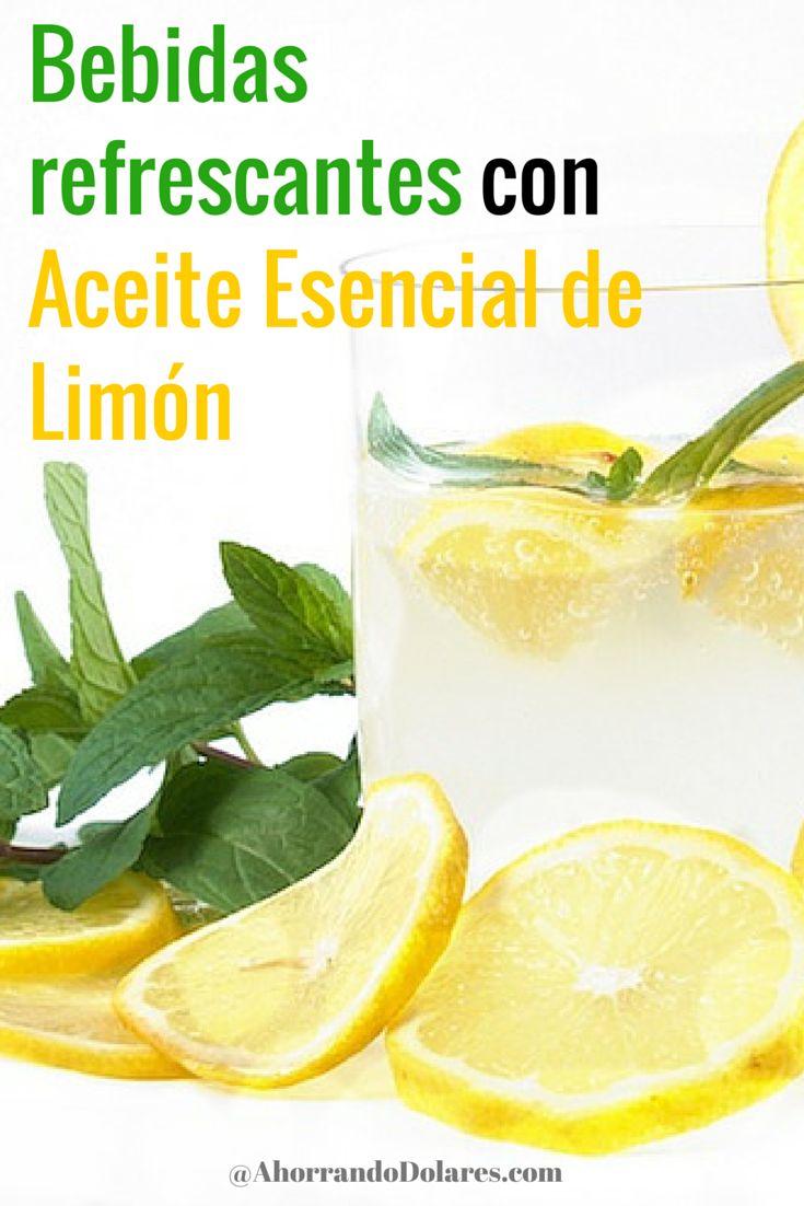 Bebidas que puedes preparar usando Aceite Esencial de Limón. Bebidas de verano refrescantes.