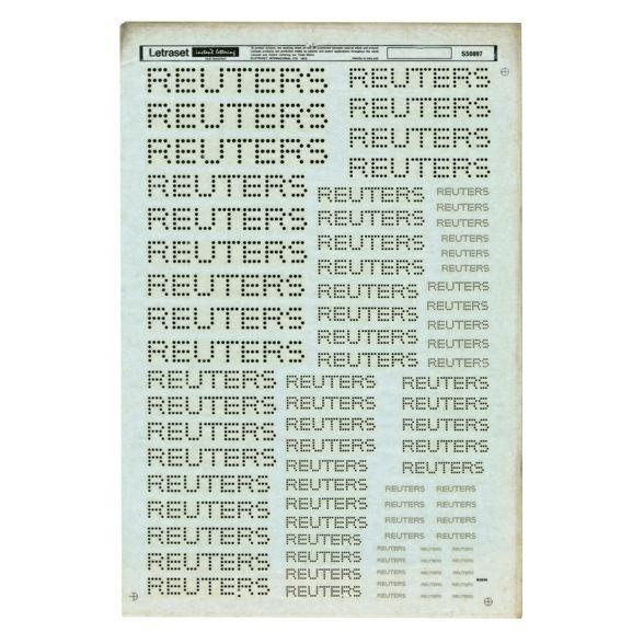 Letraset Sheet | Alan Fletcher
