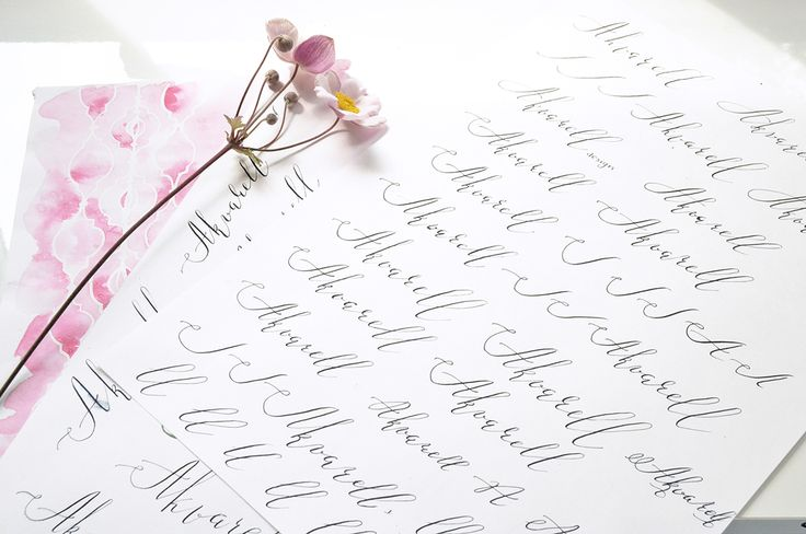 Watercolor and calligraphy. AkvarellDesign branding on Behance by Kateryna Savchenko