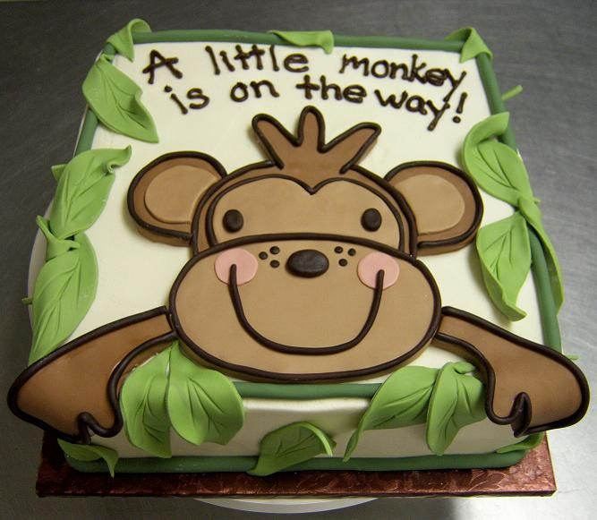 Monkey Square Baby Shower - if it ever happens, this is just perfect