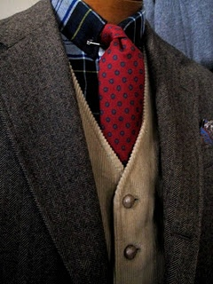 completely thrifted ensemble. Vyella shirt, J Press tie, Andover Shop tweed jacket