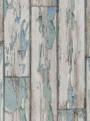 DecoratorsBest - Detail1 - CC W0050-3 - Peeling Planks WP - Mineral - Wallpaper - DecoratorsBest