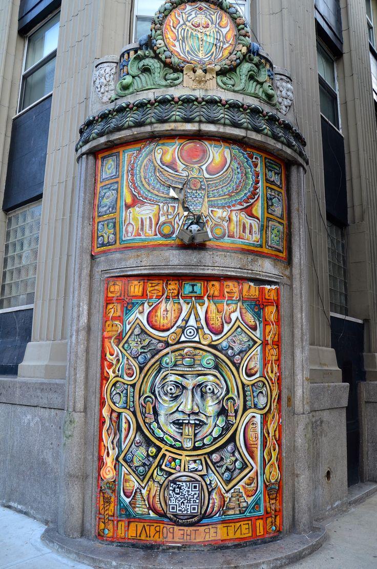 New York doorway art