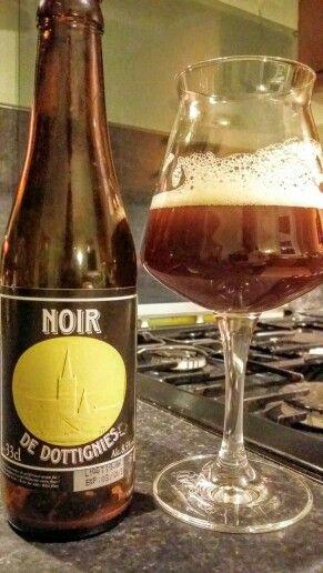 Noir De Dottignies Belgian Strong Ale. Watch the video Beer review here www.youtube.com/realaleguide #CraftBeer #RealAle #Ale #Beer #BeerPorn #NoirDeDottignies #BrouwerijDeRanke #DeRanke