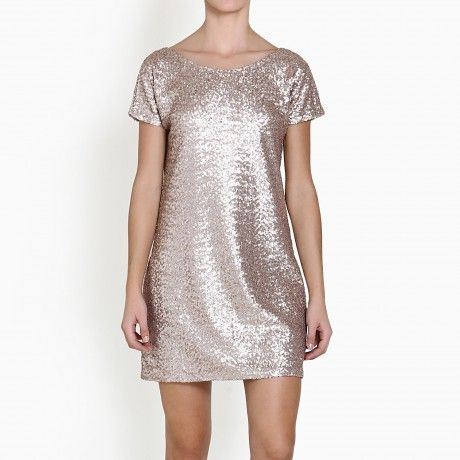 N9VE BY NIKI KARTSONA GOLD MINI SEQUIN DRESS