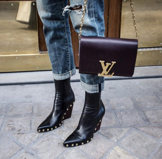 #leather #denim #streetstyle