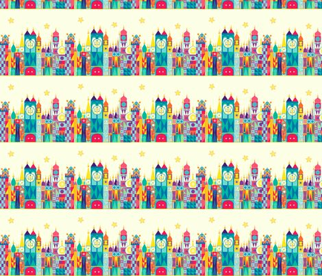 Small world facade fabric by mypieceofpeace on spoonflower for Fabric world