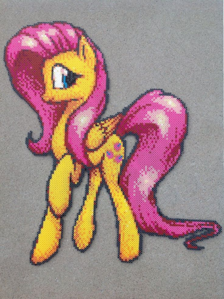 {Perler} Fluttershy is a Natural Beauty by OddishCrafts.deviantart.com on @DeviantArt