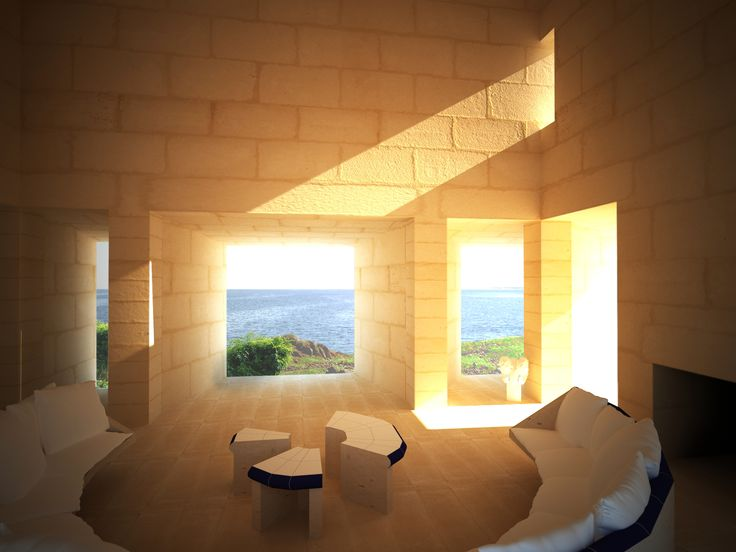 Jorn Utzons´ Can Lis in Mallorca island. A perfect mix of modern concepts with materials and spaces worked as they were on ancient cultures. I´m in love with this house, and this particular space and view.