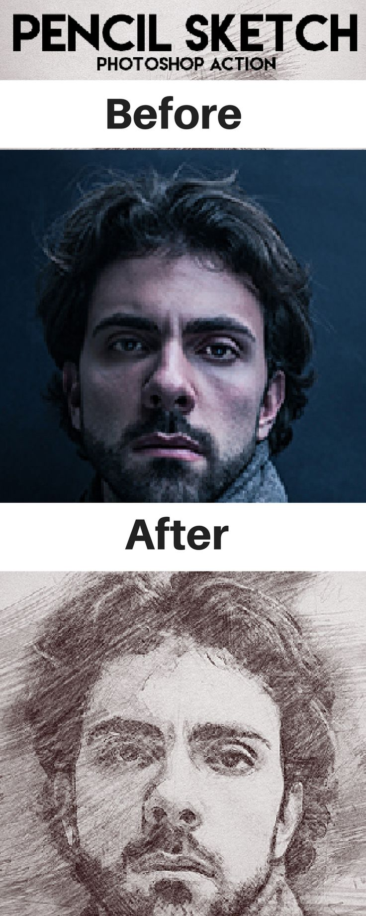Awesome Sketch Effect Photoshop Actions For Graphic Designers And