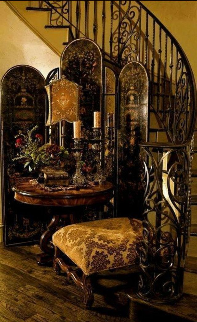 This Green Gold Really Makes The Black Pop Living Rooms Pinterest Rod Iron Railing I Love
