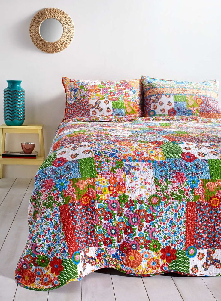 Vintage Crochet Patch Bedspread