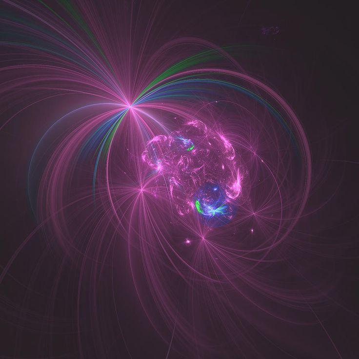 Abstract Digital Art - Pink Fantasy by Mariia Kalinichenko. Beautiful fractal created in Chaotica program. #MariiaKalinichenko