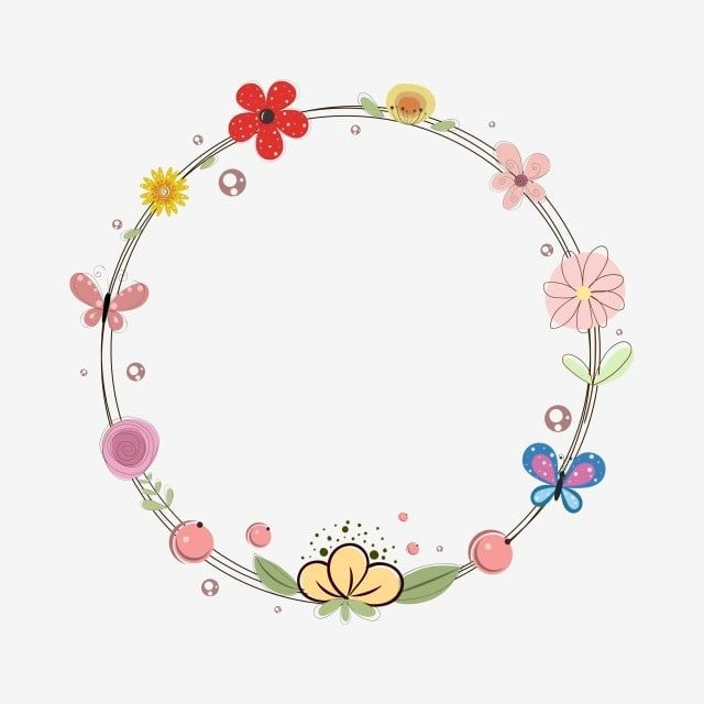 Floral Frame Decorate With Butterflies Floral Frame Floral Vector Floral Png And Vector With Transparent Background For Free Download Butterfly Clip Art Flower Frame Colorful Borders Design