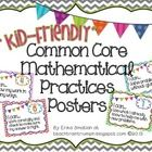 "The Common Core Mathematical Practices put into easy to understand language for your young learners.  So instead of "" I can make sense of problems ..."