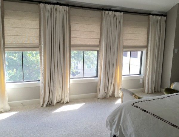 1000 ideas about long curtains on pinterest large for Roman blinds for large windows