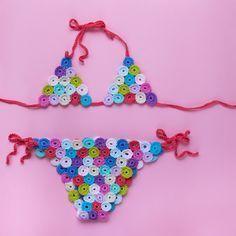Endergebnis: gestrickter Baumwollbikini – Biquinis de ganchillo – … – Kinder …   – Children's Bikini
