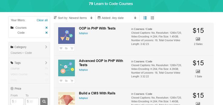 Wiesz że na ThemeForest sprzedawane są kursy? // #web #webdesign #tools #apps