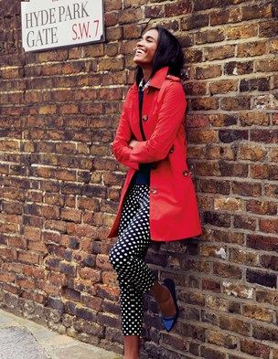 I've spotted this @BodenClothing Marylebone Mac  - cool raincoat and fun pants!