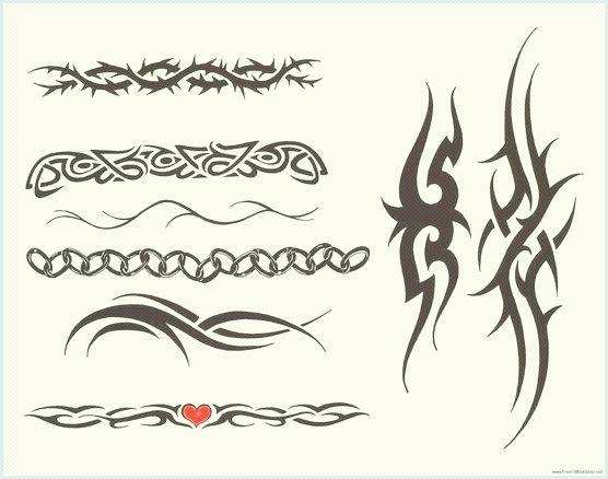 Opaska na ramię Tatuaże, wolne tribal tatuaż wzory.