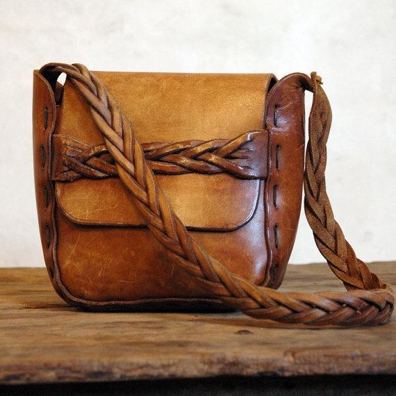 vintage braided bag
