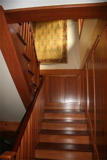 Craftsman House Interior  stairs