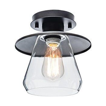 globe electric vintage semiflush mount ceiling light oil rubbed bronze finish clear