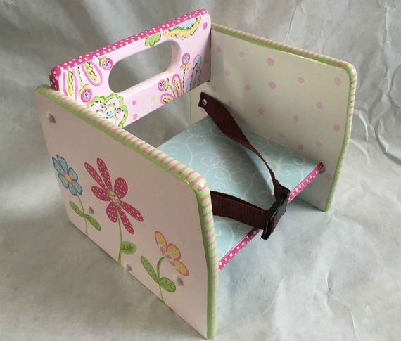 painted child's booster seat by babydreamdecor on Etsy