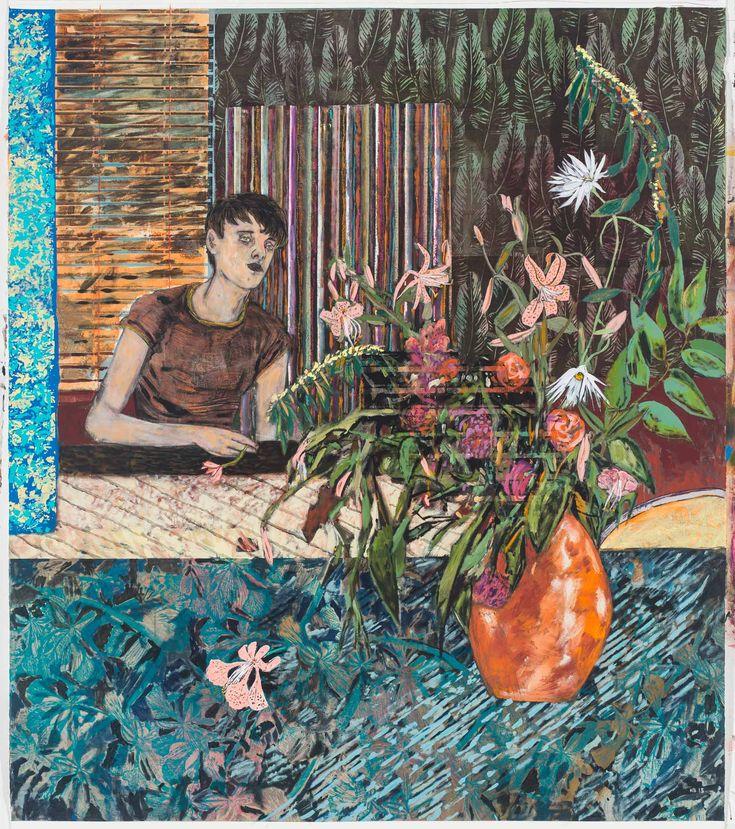 Hernan Bas à la Galerie Perrotin, entre éphèbes rêveurs et fleurs dévoilées | Numéro Magazine