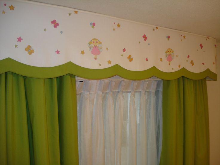 cortinaje con cenefa, niñita