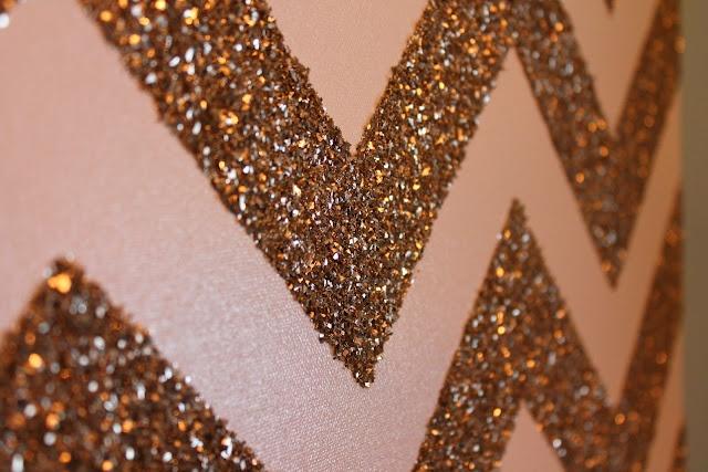 Glitter Chevron Canvas: Ideas, Paintings Canvas, Glitter Chevron Canvas, Glitter Wall, Chevron Wall, Diy, Girls Rooms, Chevron Stripes, Accent Wall