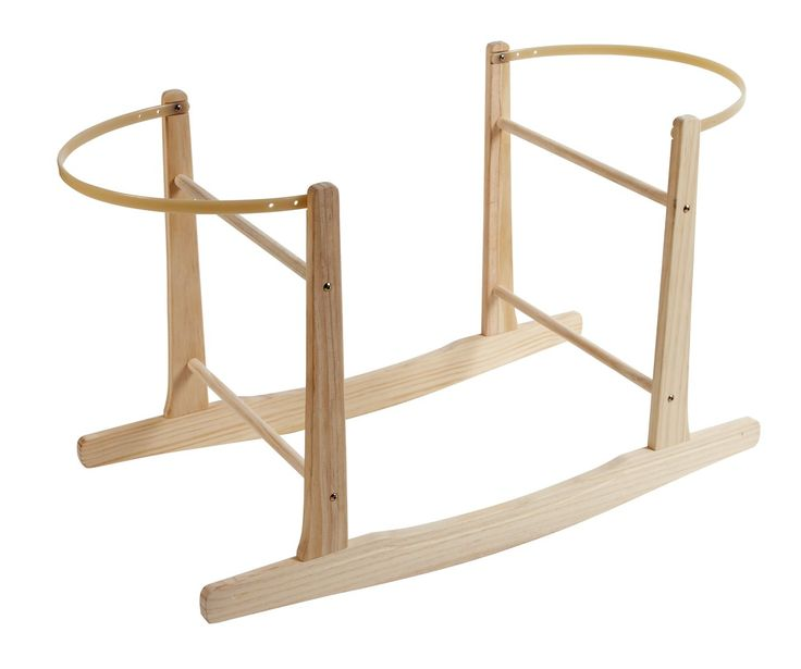 Clair de Lune Wooden Rocking Moses Basket Stand (Natural) @ 13£