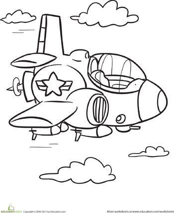 Transportation Coloring Page Plane