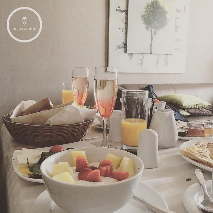 In room breakfast for two