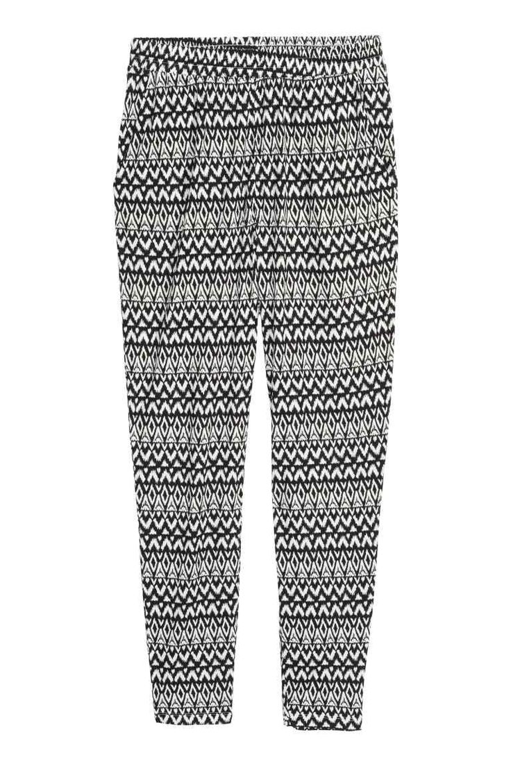 Patterned jersey trousers | H&M