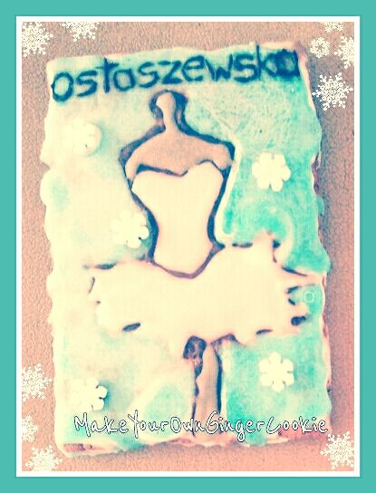Homemade ginger cookie with icing made of only natural products. Cookie made for a great Polish dresses desighner Kama Ostaszewska.