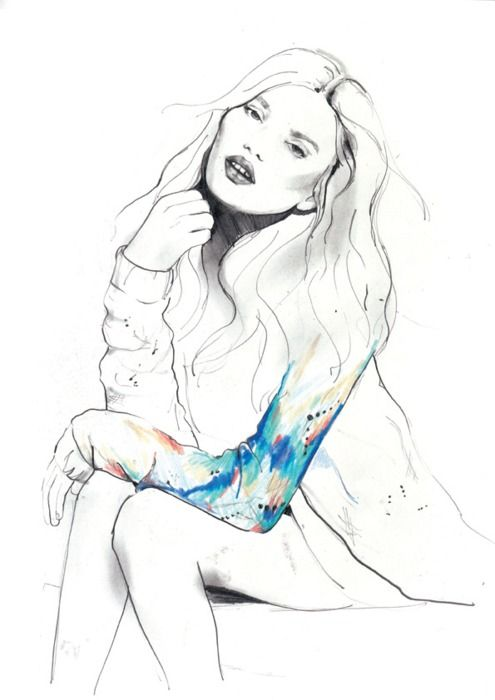 Sexy pencil drawing