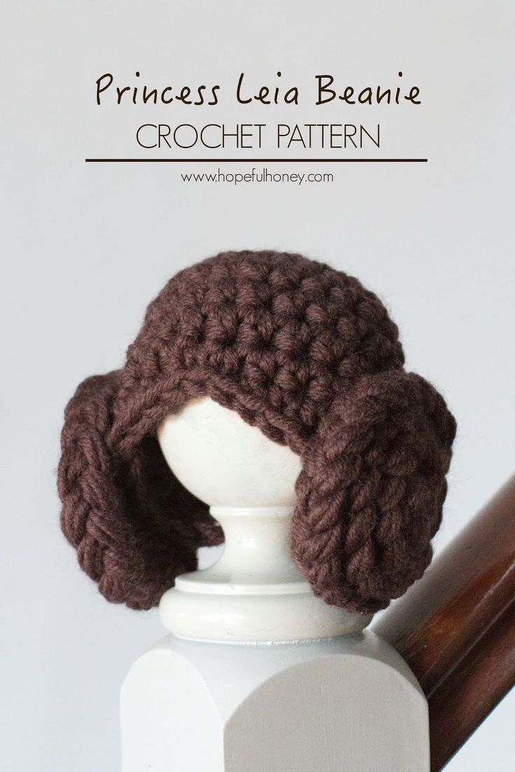 Princess Leia Inspired Beanie - Free Crochet Pattern~k8~