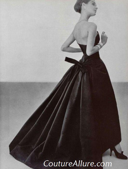 Couture Allure Vintage Fashion: Vintage Evening Gowns - 1955; Dior