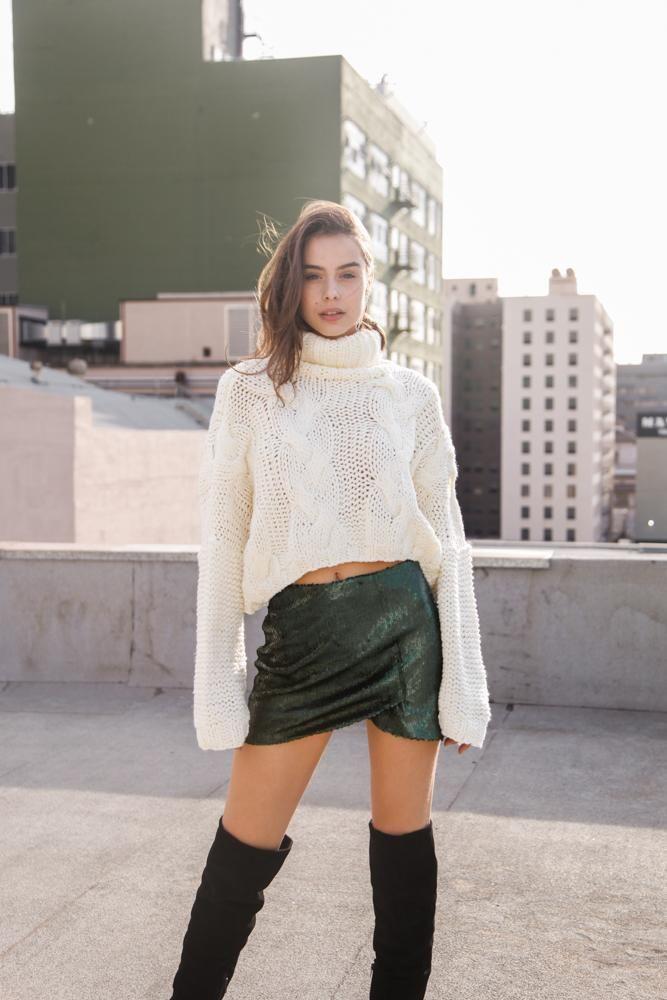 New Galaxy Sequin Skirt
