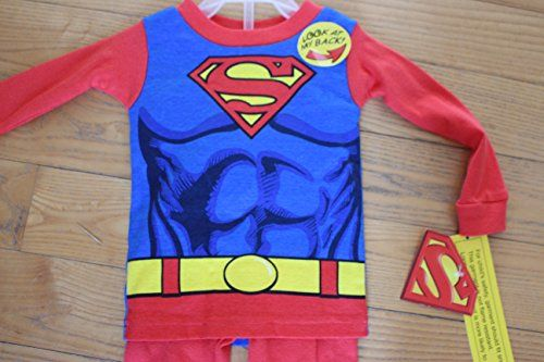 100% Cotton Toddlers Pajamas Not Flame Resistant - Size 12m @ niftywarehouse.com #NiftyWarehouse #Superman #DC #Comics #ComicBooks