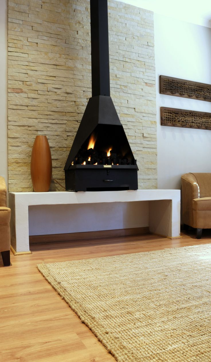 Cozy Living Room with a modern gas fireplace