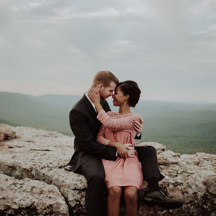 Beautiful interracial couple engagement photography #love #wmbw #bwwm #swirl