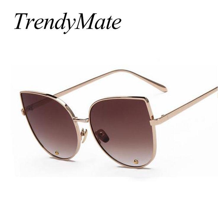 Hot 2017 Fashion Sunglass Luxury Ladies Butterfly Designer Brand Sunglasses Women Alloy Sun Glasses Oculos De Sol Feminino 058