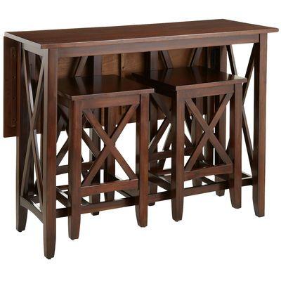 Kenzie Breakfast Table Set - Mahogany Brown - Home Decor Furniture Ideas
