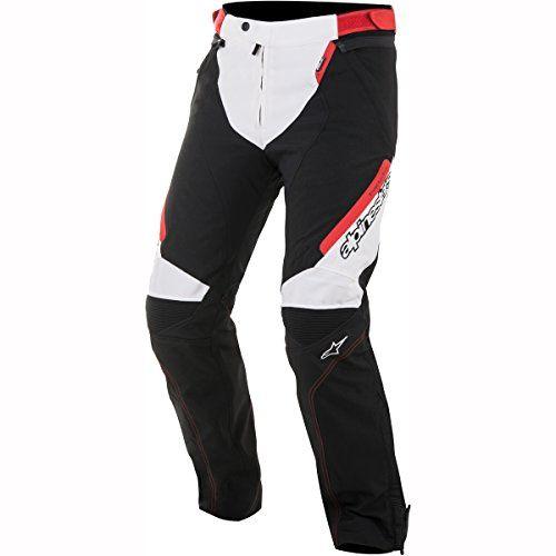 Alpinestars – Motorcycle jeans – Alpinestars Raider Drystar Pants Black White Red #trousers #motorcycle