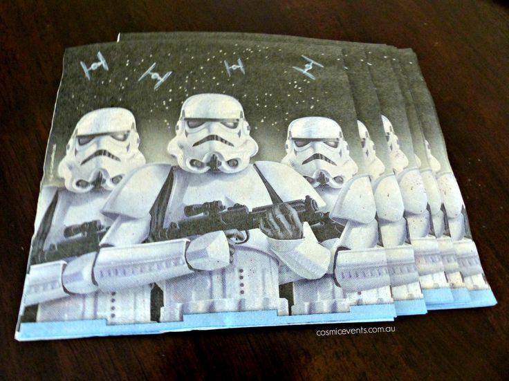 Star Wars napkins for DIY Party Package Deliveries in Pakenham area