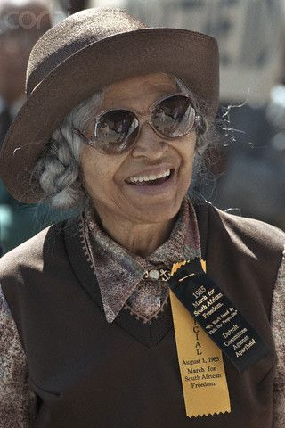 Rosa Parks In Sunglasses Color Photography