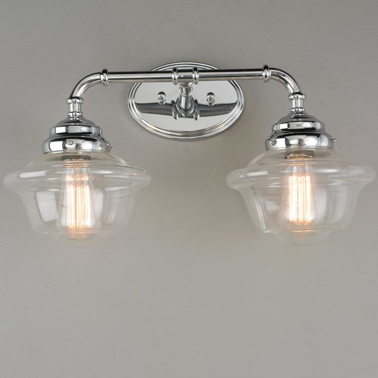 High Quality Timeless Schoolhouse Bath Light   2 Light