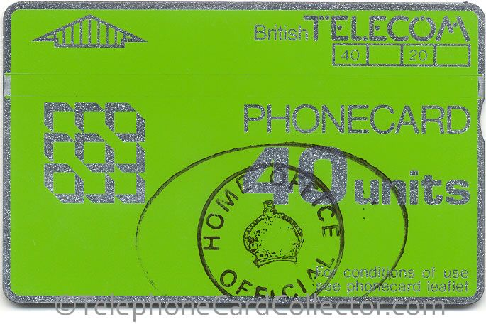 Home Office Official - Prison use - BT Phonecard - 40unit - CN: 902B